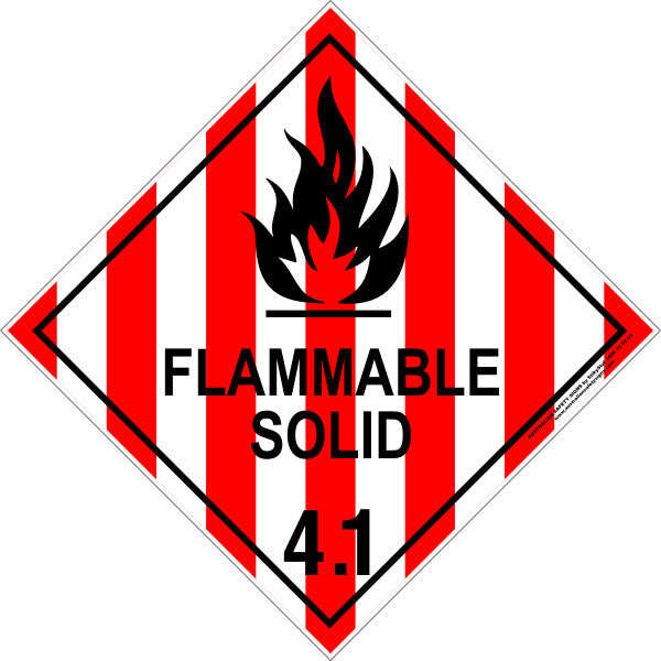 CLASS 4 - FLAMMABLE SOLID 4.1