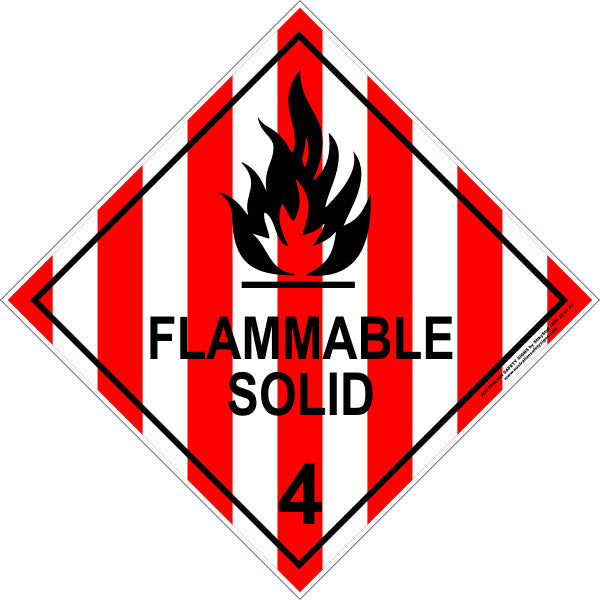 CLASS 4 - FLAMMABLE SOLID