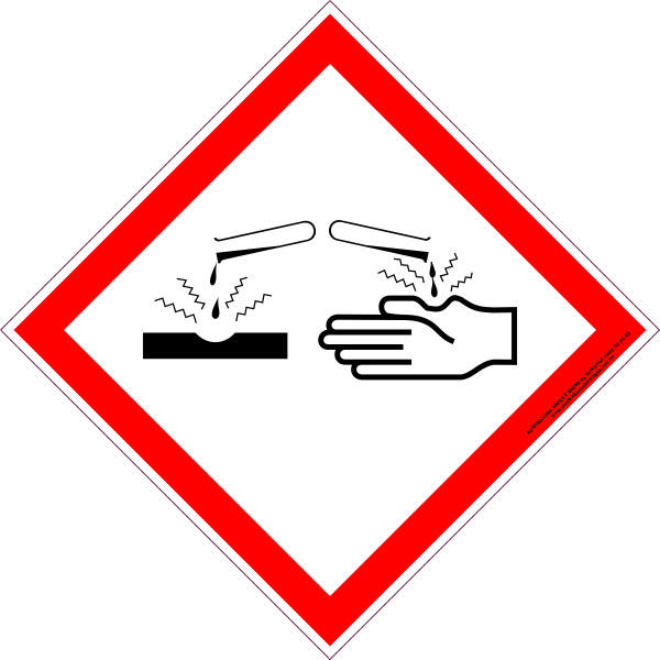 Ghs Corrosive Australian Safety Signs