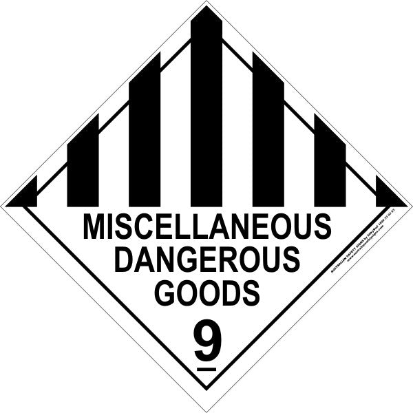 CLASS 9 - MISCELLANEOUS DANGEROUS GOODS