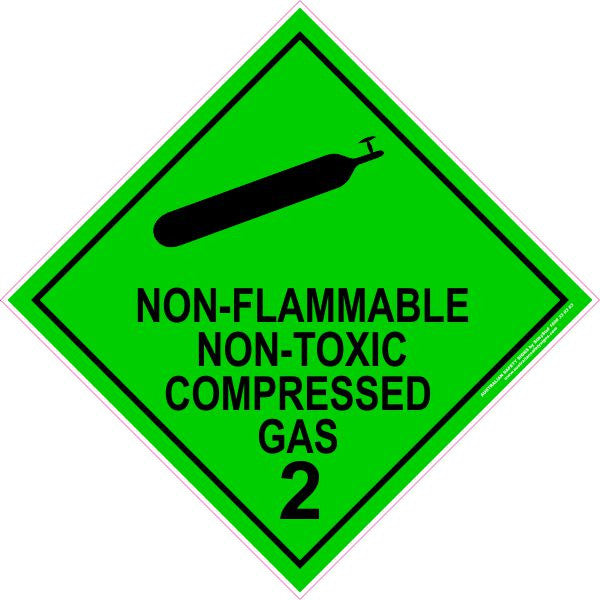 Class 2 Non Flammable Non Toxic Compressed Gas 2