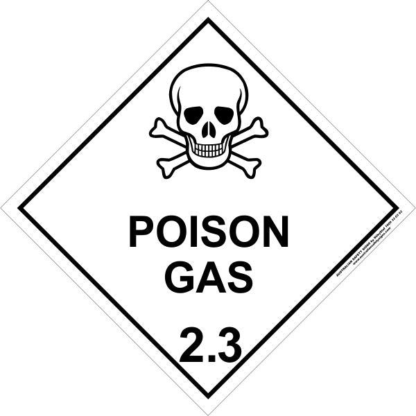 Class 2 Poison Gas 2 3 Australian Safety Signs