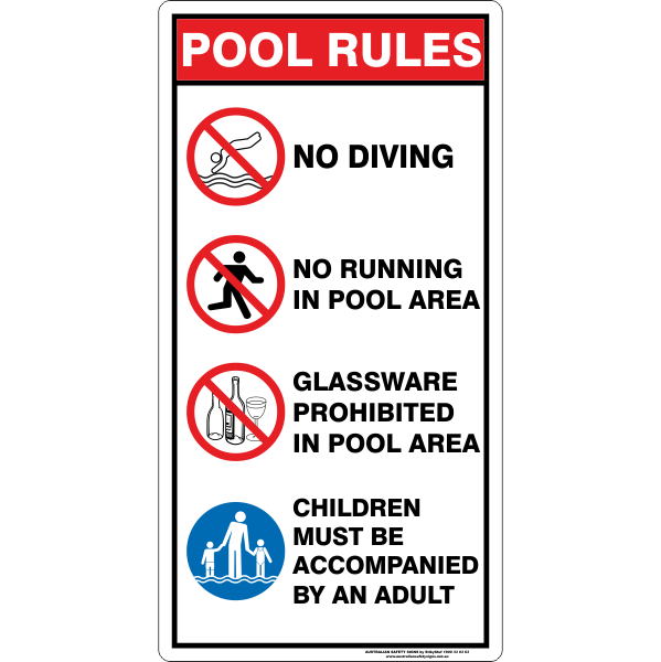POOL RULES SIGN - B
