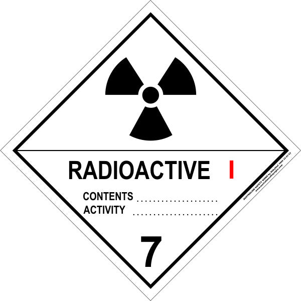 CLASS 7 - RADIOACTIVE - CATEGORY 1
