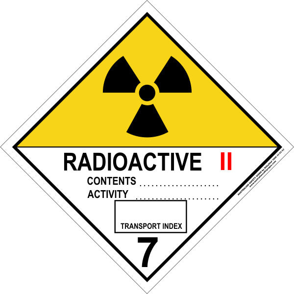 CLASS 7 - RADIOACTIVE - CATEGORY 2