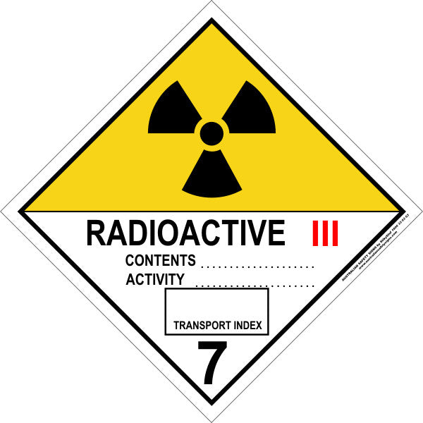CLASS 7 - RADIOACTIVE - CATEGORY 3