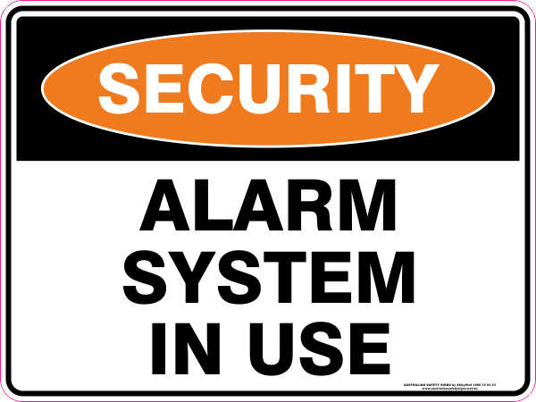 ALARM SYSTEM IN USE