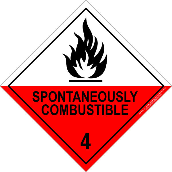 CLASS 4 - SPONTANEOUSLY COMBUSTIBLE