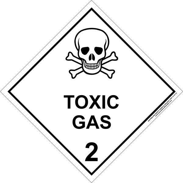 Class 2 Toxic Gas Australian Safety Signs