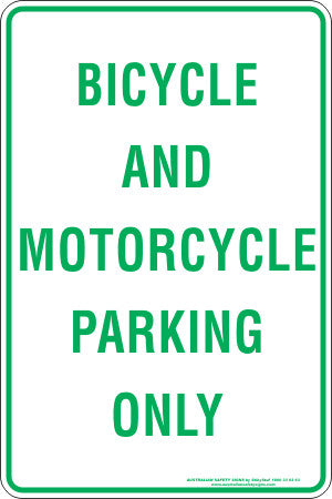BICYCLE AND MOTORCYCLE PARKING ONLY