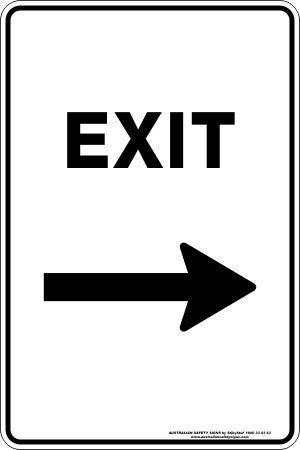 EXIT - RIGHT ARROW