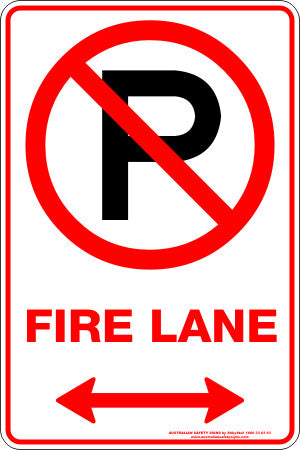 FIRE LANE P SPAN ARROW