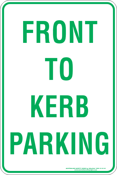 FRONT TO KERB PARKING