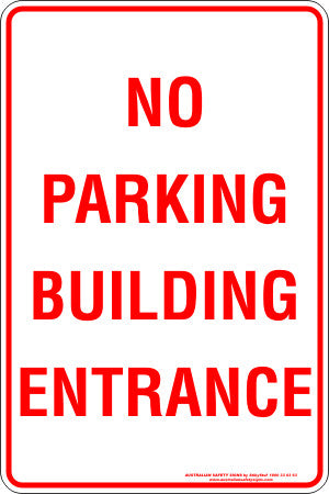 NO PARKING BUILDING ENTRANCE
