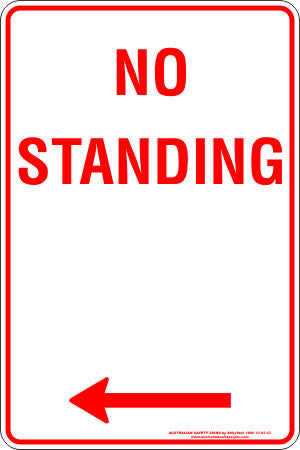 NO STANDING LEFT ARROW