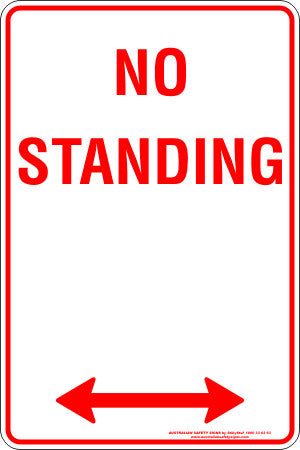 NO STANDING SPAN ARROW