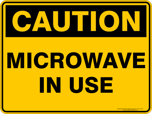 MICROWAVE IN USE
