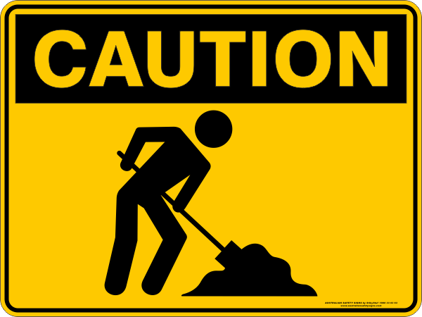 CAUTION - WORKER PICTOGRAM