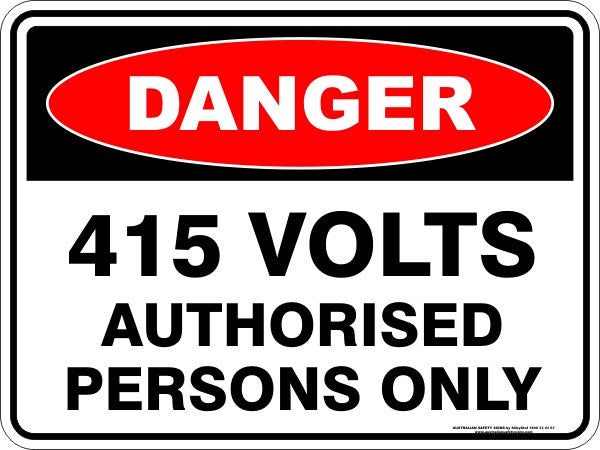 415 VOLTS AUTHORISED PERSONS ONLY