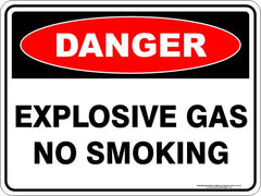 EXPLOSIVE GAS NO SMOKING