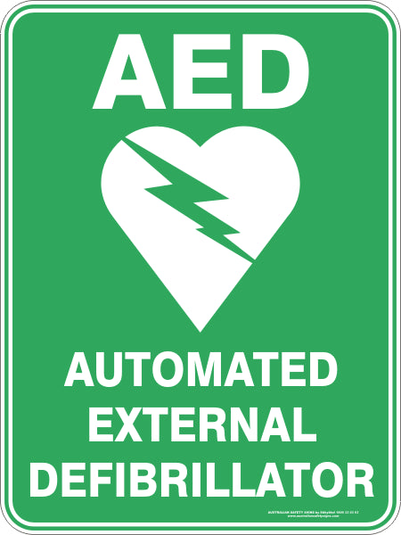 Aed Automated External Defibrillator Australian Safety Signs