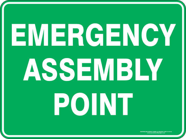 Emergency Assembly Point Australian Safety Signs