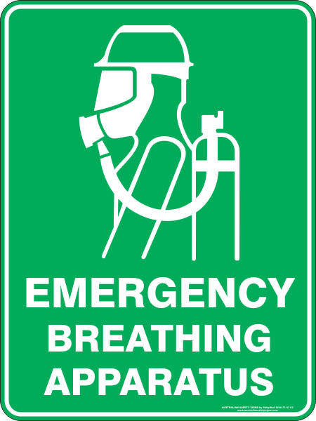 Emergency Breathing Apparatus Australian Safety Signs