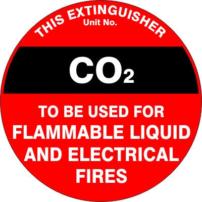 EXTINGUISHER ID MARKER CO2
