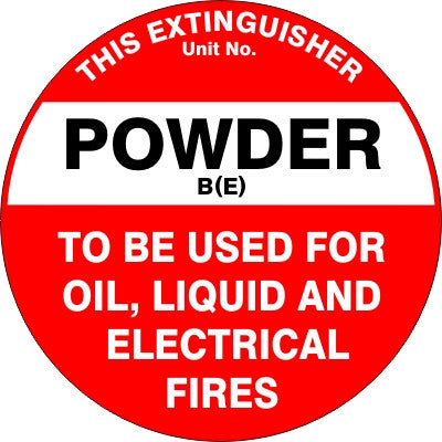 EXTINGUISHER ID MARKER BE