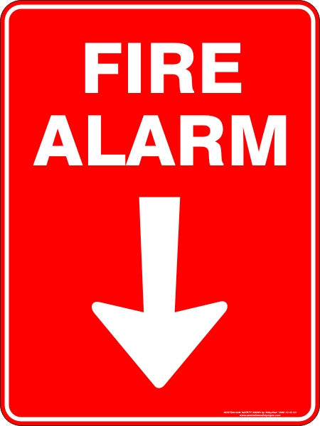 FIRE ALARM ARROW DOWN