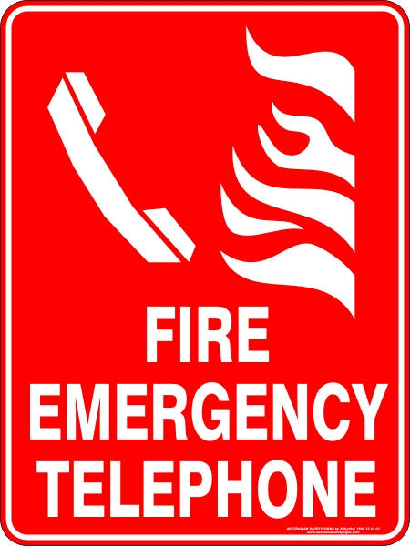 Fire Emergency Telephone Australian Safety Signs