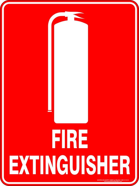 Fire Extinguisher Australian Safety Signs