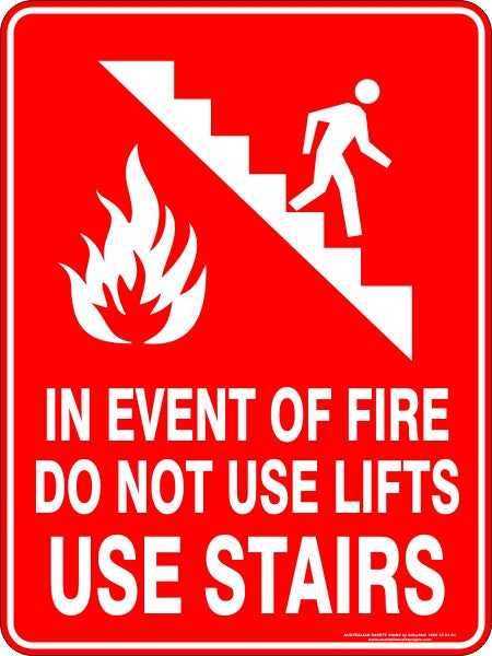 In Event Of Fire Do Not Use Lifts Use Stairs Australian