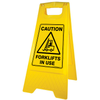 Caution Forklifts in use Floor stand sign