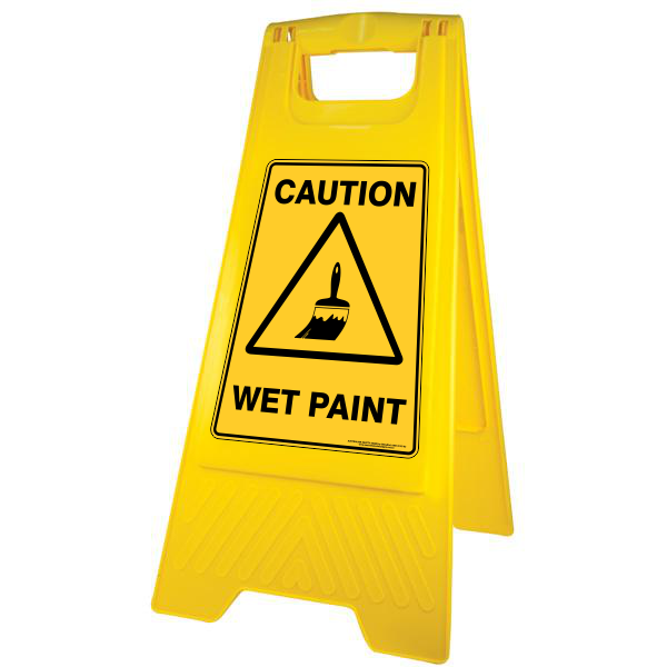 New Caution WET PAINT A-Frame Floor Stand