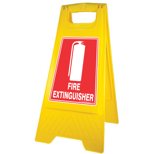 NEW FIRE EXTINGUISHER - A-FRAME FLOOR SIGN