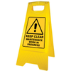 New Keep Clear Maintenance Work in Progress Floor Stand