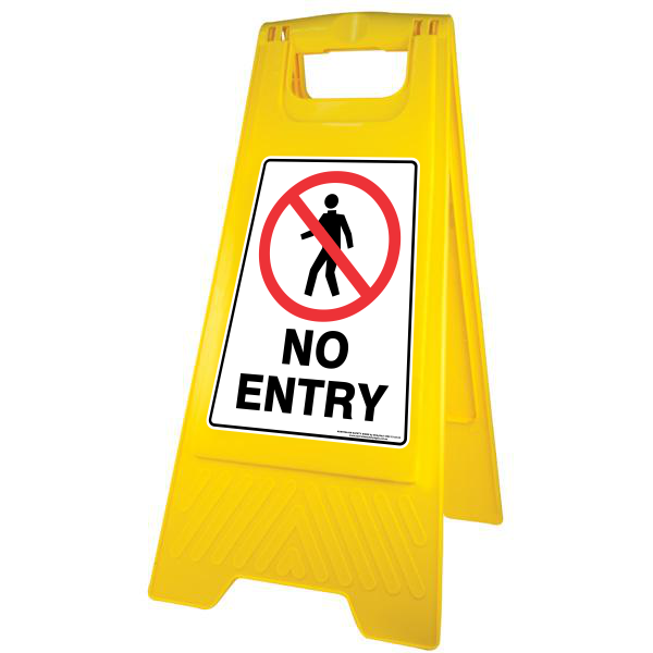 New NO ENTRY A-Frame Floor Sign