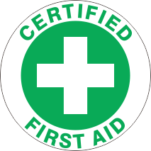 CERTIFIED FIRST AID GREEN