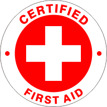 CERTIFIED FIRST AID RED