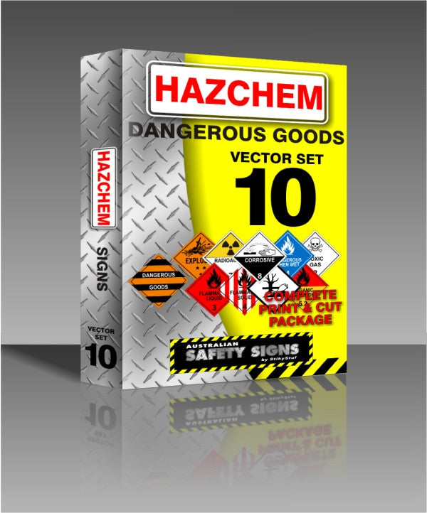 Series x10 - Hazchem - Dangerous Goods Safety Signs Collection