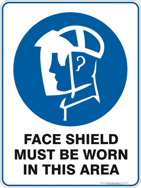 FACE SHIELD MUST BE WORN IN THIS AREA