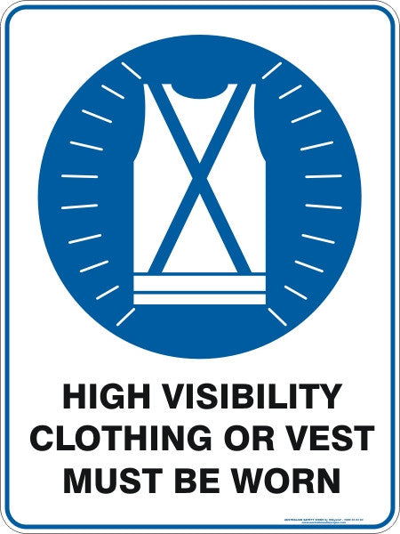 High Visibility Clothing Or Vest Must Be Worn Australian