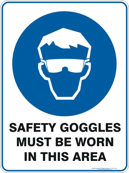 SAFETY GOGGLES MUST BE WORN IN THIS AREA