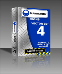 Series 4 - Mandatory Safety Signs Collection
