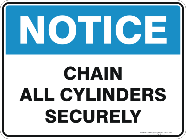 CHAIN ALL CYLINDERS SECURELY