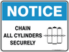 CHAIN ALL CYLINDERS SECURELY WITH PICTOGRAM