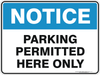 PARKING PERMITTED HERE ONLY