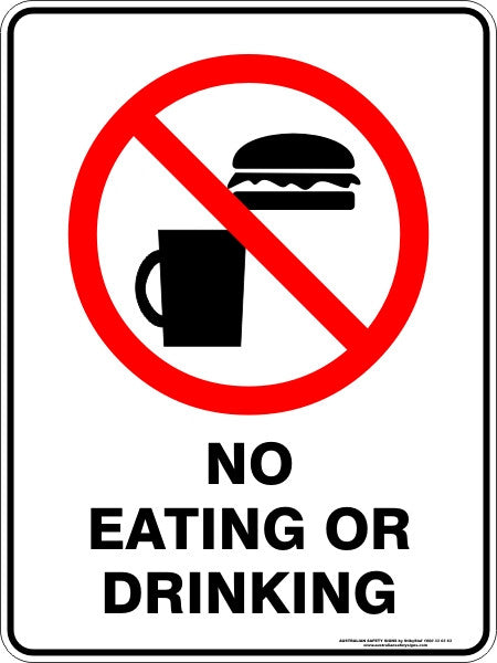 NO EATING OR DRINKING