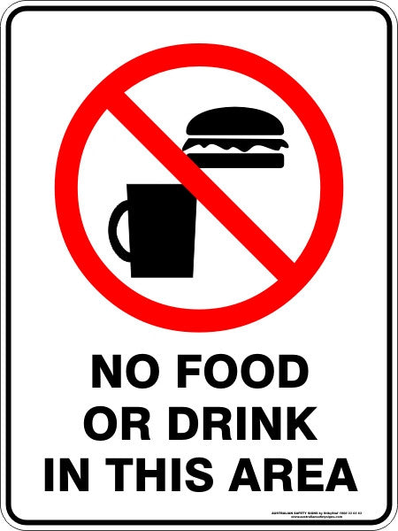 NO FOOD OR DRINK IN THIS AREA